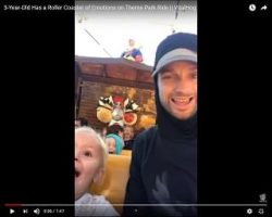Viral Video: Little Human Has a Roller Coaster of Emotions on Theme Park Ride