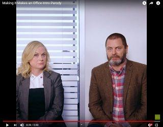 "Nick Offerman & Amy Poehler Parody ""The Office"""