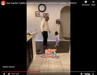 Viral Video: Dad Teaches Toddler Daughter Dance Steps and Perform Together