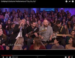 """Coldplay Perform In """"Ellen's"""" Audience"""