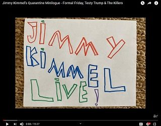 """The Killers Give Bathroom Performance On """"Jimmy Kimmel Live"""""""