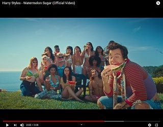 "Harry Styles Drops Sexy Video For ""Watermelon Sugar"""