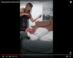 Trending: Sleeping Man Bamboozled by Imaginary Bug…And His Wife