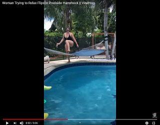 Trending: Woman Suffers Fail On Poolside Hammock