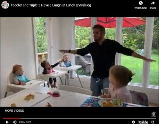 Trending: Toddler and Triplets Have a Laugh at Lunch