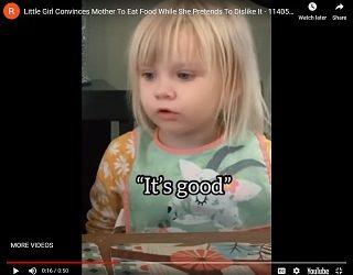 Trending: Little Girl Encourages Mommy To Eat Her Dinner