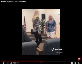 Groom's Mother Objects To Bride's Vows