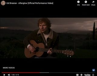 "Ed Sheeran Drops ""Afterglow"""