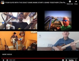Four Guys With The Same Name Form Band