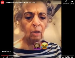 Trending: Grandma Hilariously Confused By Snap Filters