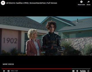 "Timothee Chalamet & Winona Ryder In ""Edward Scissorhands"" Super Bowl Ad"