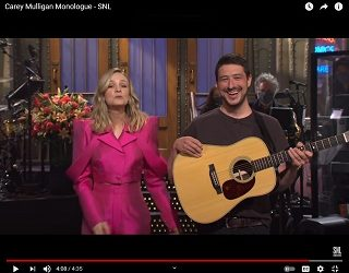 "Marcus Mumford Crashes ""SNL"" Monologue Of Wifey Carey Mulligan"